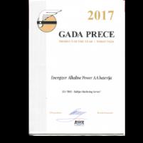 alkaline AA Energizer gada prece balva